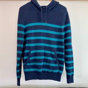 GAP blue stripped hoodie size L